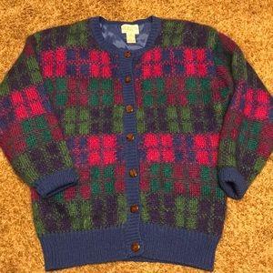 Susan Bristol Mohair Cardigan Sweater Size  S